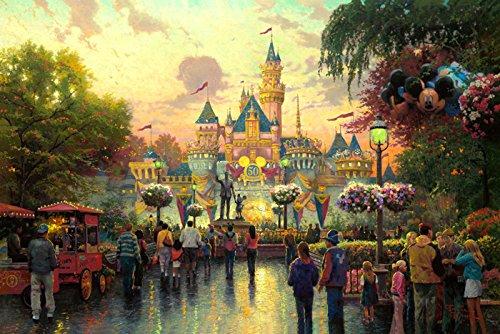 Van Eyck Disneyland Landschaft Prints auf Leinwand Art Wand Bild für Wohnzimmer Home Dekorationen (Innen) -