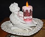 Fachhandel Plus Wunderschöne Kerze LED mit Farbwechsel und Glitzereffekten im Wasser, Dekoration