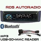 RDS AUTORADIO GXR550 mit USB SD MP3 WMA Bluetooth UKW/MW für Smart for Two
