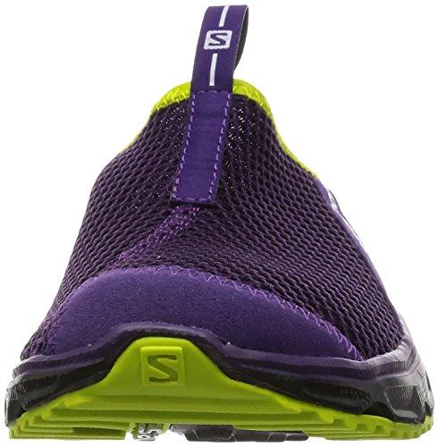 Salomon Rx Slide 3 0, Sandales Plateforme Femme Violet (Cosmic Purple/Black/Gecko Green)