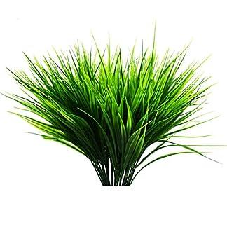 Evinis – Pack de 5 plantas artificiales para exteriores – plástico falso arbustos verdes de trigo hierba arbustos flores para interior exterior casa casa jardín oficina boda fiesta decoración