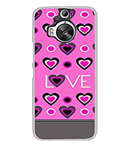 PrintVisa Designer Back Case Cover for HTC One M9 Plus :: HTC One M9+ :: HTC One M9+ Supreme Camera (Pink Love Pattern With Heart Symbols)