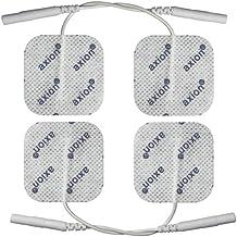 Elettrodi / pad autoadesivi, 4x4cm, per TENS, EMS ed elettrostimolatori con attacco universale a spinotto da 2mm