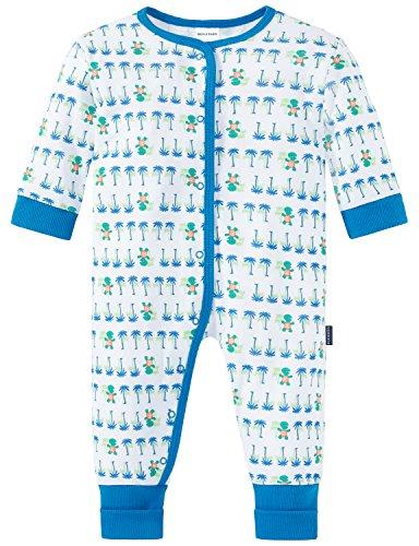 Schiesser Baby-Jungen Zweiteiliger Schlafanzug Anzug mit Vario Fuß, Weiß (Weiss 100), 80