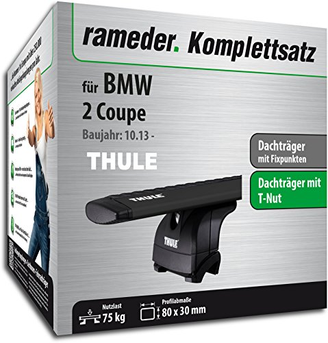 Rameder Komplettsatz, Dachträger WingBar für BMW 2 Coupe (118326-11599-10)