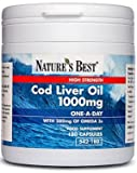 Pure Cod Liver Oil 1000mg - UK's strongest, one-a-day formula- 180 capsules, UK-made
