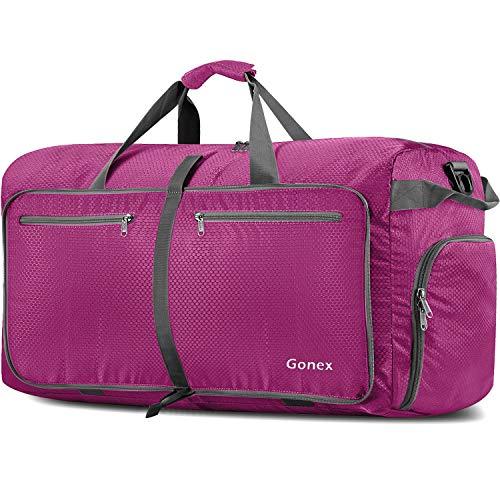 Gonex Leichter Faltbare Reise-Gepäck 150L, Farbe: Rosa, Duffel Taschen Uebernachtung Taschen/Sporttasche für Reisen Sport Gym Urlaub