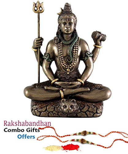 Collectible India Shiva Idol Lord Shiv Padmasanasitting Shiv Statue Gifts (3.4 Inches)