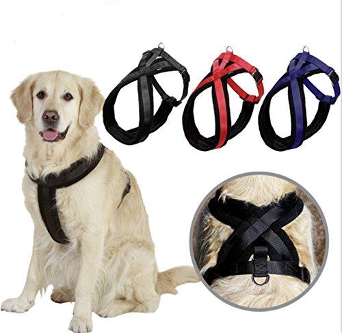 bailuoni Große Hunde Pet verstellbarem Sicherheitsgeschirr Brust Weste Weich Gepolstert