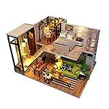 Silverone Modelo De Bricolaje De Madera, Casa De Muñecas En Miniatura, Bloques De Construcción Hechos A Mano, Juguetes De Regalo