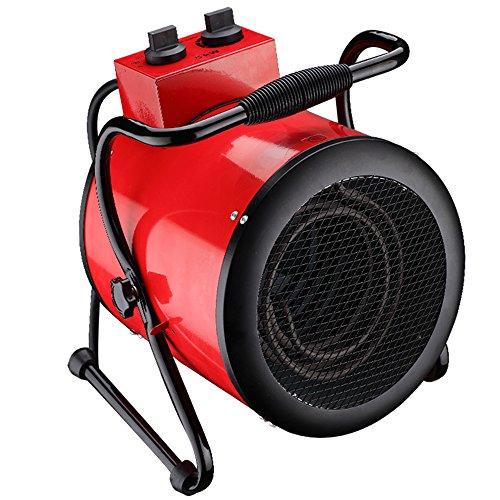 Homeleader TSE-50G Industrie Heizlüfter Elektroheizer, Elektroheizgebläse heizung mit Thermostat, Wasserdicht, 5KW, 400V Gewächshaus-ventilator Thermostat
