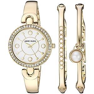 Anne Klein AK/3288 – Reloj y Brazalete para Mujer con Cristales Swarovski