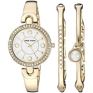 Anne Klein AK/3288 – Juego de Reloj y Pulsera con Cristales Swarovski para Mujer