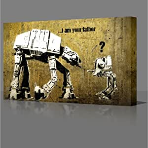 I Am Your Father FRAMED CANVAS ART PRINT READY TO HANG ON YOUR WALL MODERN ART DECOR GRAFFITI STREET ART (77cm x 51cm)