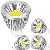 GU5.3 LED Lampen Glühbirnen Kaltweiß 7W ersetzt 50W Halogenlampen, Kein Flackern 560 lumen 6000K,LED GU5,3 Leuchtmittel Kaltweiß Birne MR16 AC/DC 12V Nicht Dimmbar/4er Pack