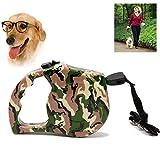 Tactical Dog Leash Camo Retractable Military Dog Harness Flexi Leash Ausziehbares Halsband Zugseil 5 Meter