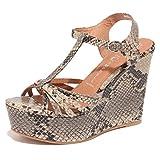 Jeffrey Campbell 6822O Sandalo SWANSONG Beige Nero Scarpe Donna Shoe Woman [40]