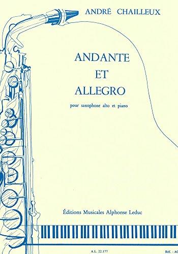 ANDANTE ET ALLEGRO SAXOPHONE MIB ET PIANO Japan Allegro