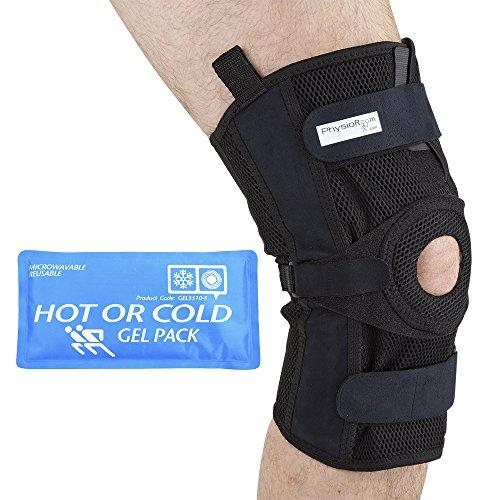 Physioroom Elite Pro Mesh - Kniebandage mit Scharnier - wasserdicht - Unterstützung der Bänder - Netzstoff - Groß (Mesh-kniebandage)