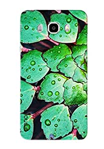 Omnam Pattern Made Of Green Leaves Printed Designer Back Cover Case For Samsung Galaxy J5 (2016)]