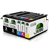 JARBO Kompatibel HP 711 XL Tintenpatronen Hohe Kapazität kompatibel zu HP designjet T120 HP designjet T520 Series Drucker (2 Schwarz,1 Cyan,1 Magenta,1 Gelb)