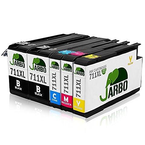 JARBO Compatible Ink Cartridges Replacement for 711XL Ink Cartridges 1Set+1BK
