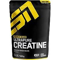 ESN Ultrapure Creatine Monohydrate – 500 g – 166 Portionen – reicht für 5,5 Monate – reinstes Kreatin Pulver – koscher…