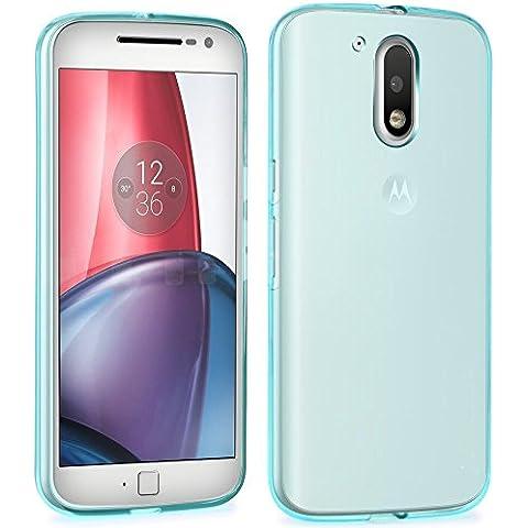 Motorola Moto G 4(4ª Generación)/G4 Plus Funda, bdeals High Qquality transparente rígida Funda Crystal Clear carcasa case para Motorola Moto G 4(4ª Generación)/G4 Plus + 1 Protector de Pantalla Azul