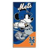 Northwest MLB Windup co-branded Disney Topolino telo mare, Multicolor, 28-Inch by 58-Inch