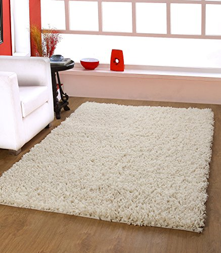 Centra Home Paper Shag.. Handmade Rug Carpet Make You feel Elegance, Soft & Rich 3.6x5.6ft Vanilla