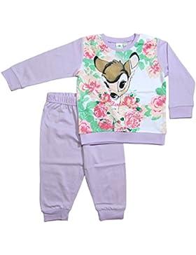 Bambi Kollektion 2017 Schlafanzug 74 80 86 92 98 Mädchen Pyjama Disney Neu Reh Lila