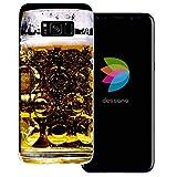 dessana Oktoberfest Transparente Silikon TPU Schutzhülle 0,7mm dünne Handy Tasche Soft Case für Samsung Galaxy S8 Maßkrug Bier