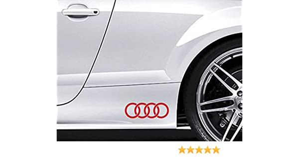 Meilleur Voiture Qualité Prix >> 2 Autocollants Avec Logo Audi Pour Le Contour De Voiture Audi De Qualite Superieure En Vinyle