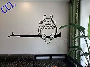 Ghibli Totoro Mon voisin Totoro inspiré Sticker Mural, autocollant Tortoro autocollant, anime l'art mural P2061