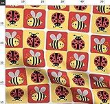 Bienen, Marienkäfer, Rot Und Gelb Stoffe - Individuell