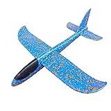 Kinder Flugzeug Spielzeug Outdoor Wurf Segelflugzeug Glider ca.38cm Blau