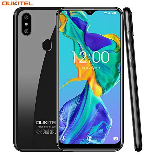 OUKITEL C15 Pro Dual 4G SIM Smartphone ohne Vertrag,3GB RAM+32GB ROM,6.1 Zoll HD+ Waterdrop Display,Android 9.0,MT6761 Quad-core 2.0Ghz,8MP+2M+5MP Kameras,3200mAh,günstig Ultra dünn Handy - Schwarz