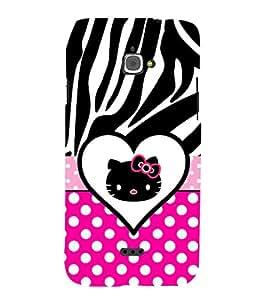Cute Girly Love 3D Hard Polycarbonate Designer Back Case Cover for InFocus M350