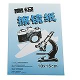 50 panni-Carta per pulizia lenti, 15 x 10 cm, per occhiali, oculari, Apochromatiques obiettivi, trasparenti
