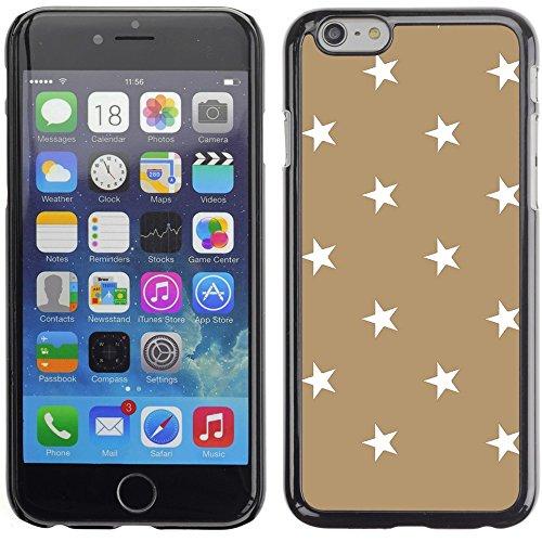 Graphic4You Sterne Muster Design Harte Hülle Case Tasche Schutzhülle für Apple iPhone 6 Plus / 6S Plus (Aqua Blau) Hellbraun