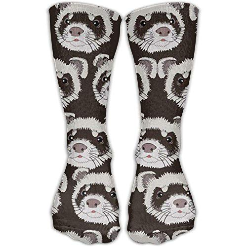 Jxrodekz Guinea Pig with Cookie Men Women Printed Crew Socks Funky Cotton Socks for Home Outdoor Pig Cookie