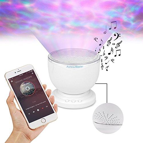 Angin-Tech® Beruhigende entspannender Ozean-Wellen-Projektor LED-Nachtlicht Decken-Projektor mit Stereo-Lautsprecher (Haus-stereo-usb-player)
