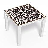 malango® Möbelfolie Floraldesign für Beistelltisch Serie Lack von IKEA Tischaufkleber Designfolie Möbeldekoration Klebefolie mit Tisch digitalgedruckt