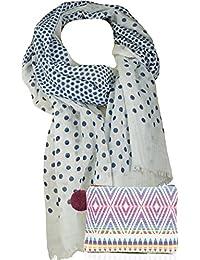 f6550796a77ab9 Damen Mädchen Halstuch Schal für Frauen hübsches Tuch mit Punkten im  Geschenk Set mit Kosmetik Etui
