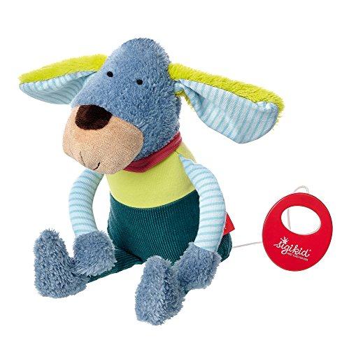 sigikid, Jungen, Spieluhr, Stofftier Hund, Kindergarten Freunde, Blau/Grün, 41358