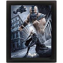 Empire Merchandising 558008 Batman, The Dark Knight Rises, enmarcado 3D Póster, tamaño 20 x 25 cm