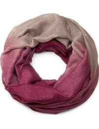 810941e167f8a7 styleBREAKER raffinata sciarpa ad anello glitter con motivo colorato,  sciarpa glitter, paillettes, sciarpa, foulard,…