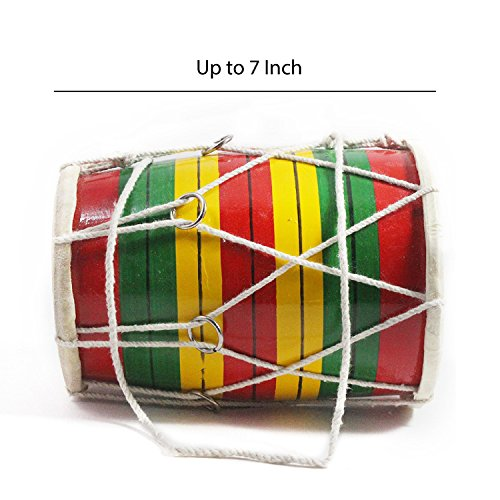 Handgefertigt handgefertigten bis zu 7Jahren Kinder spielen Dholak (Größe:- bis zu 17,8cm) Multi gelegentlichen Premium Geschenk