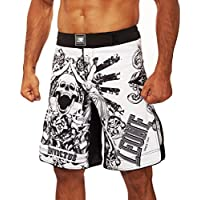 LEONE 1947 Invictus Pantalones Cortos MMA, Unisex Adulto, Bianco, M