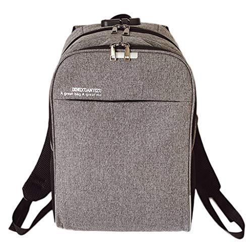 SOMESUN Unisex Schulter Schulter Diebstahlsichere Tasche Schüler Einfarbig Praktisch Modern Minimalistisch Rucksack Outdoor Funktional Große Kapazität Nylontasche Verstellbare Reisetasche - Minimalistischer Rucksack